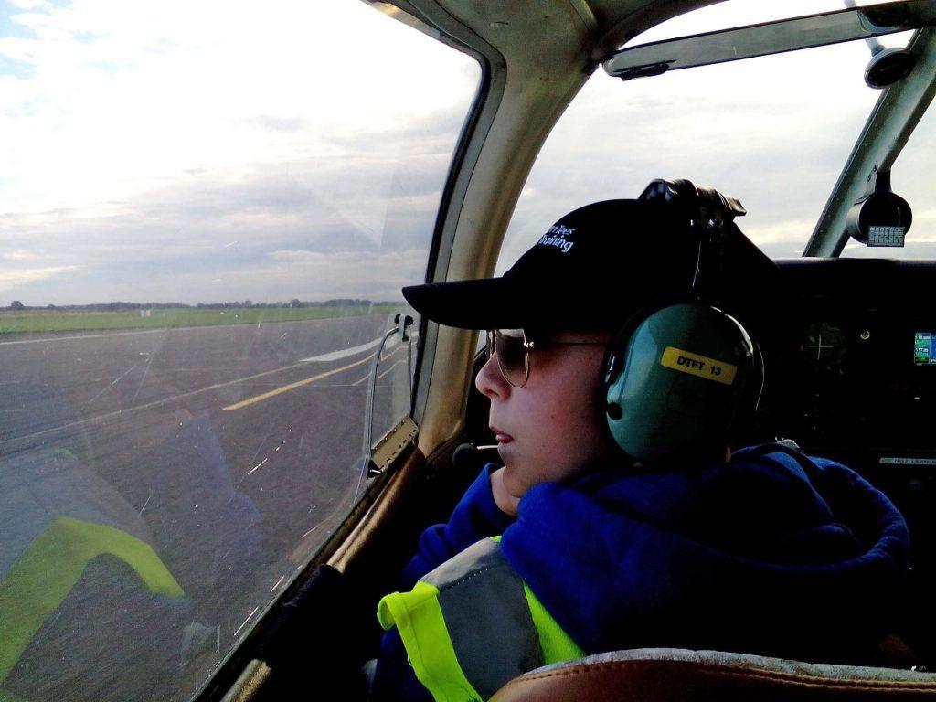 Alexander Solo Flight RAF Glider High-Flying